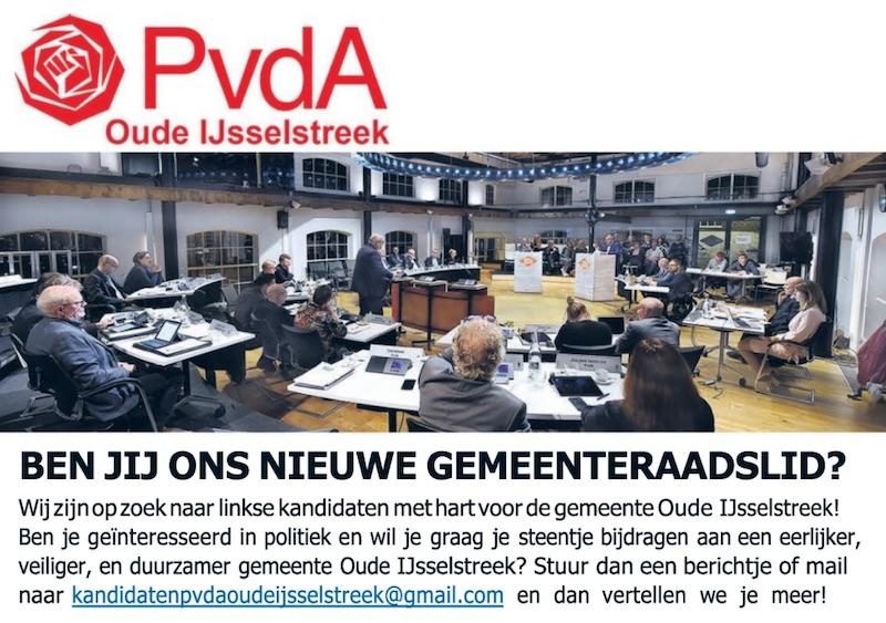 PvdA gemeenteraadsverkiezingen 2022